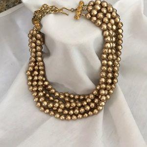 Carolee gold tone multi strand necklace